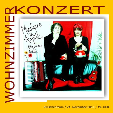 musique in aspik #1 wohnzimmerkonzert 24. November 2018